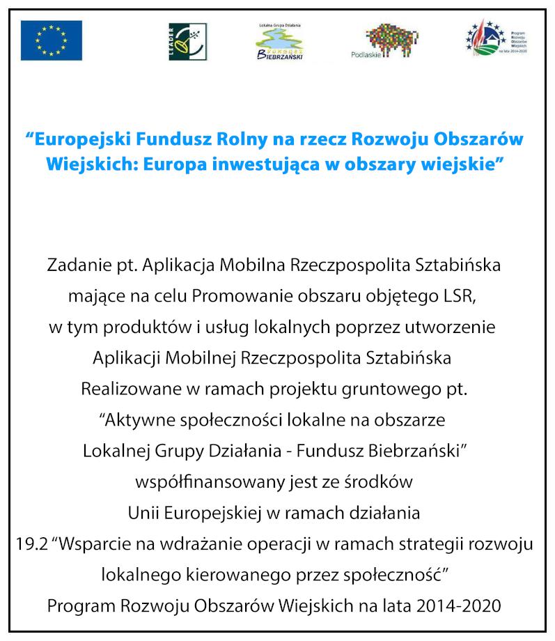 Aplikacja Rzeczpospolita Sztabińska